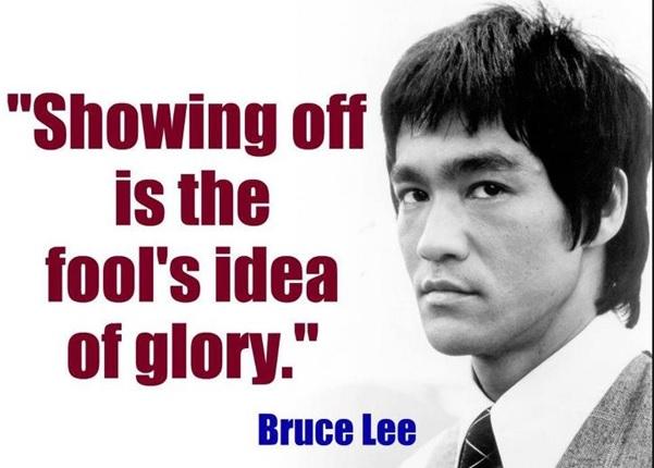 Bruce Lee's idea of glory