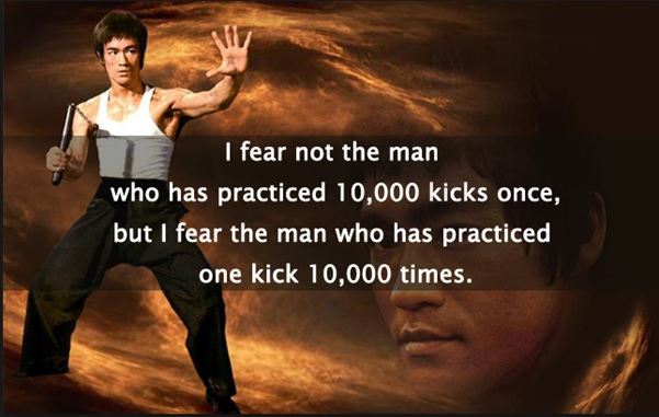 What skill of yours have you practiced 10,000 times?